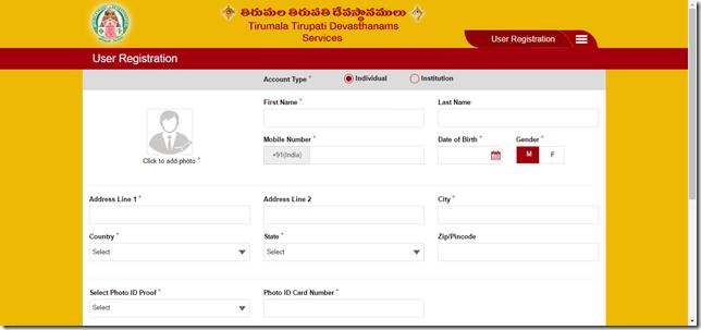 Details of Piligrim on Registration page