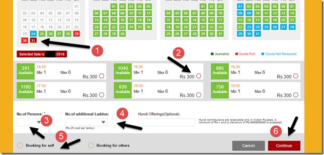 TTD Darshan Availability Chart Laddu Selection