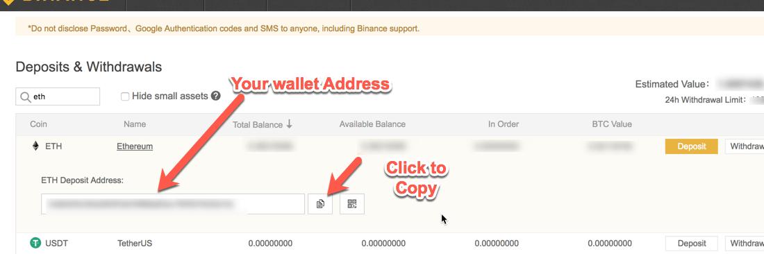 Deposit Address Ethereum Binance -min