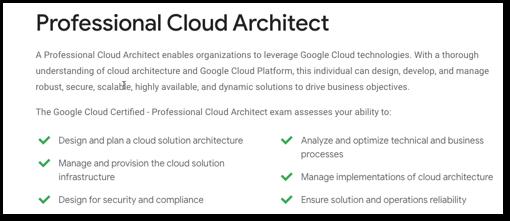 GCP Professional Cloud Architect Exam info