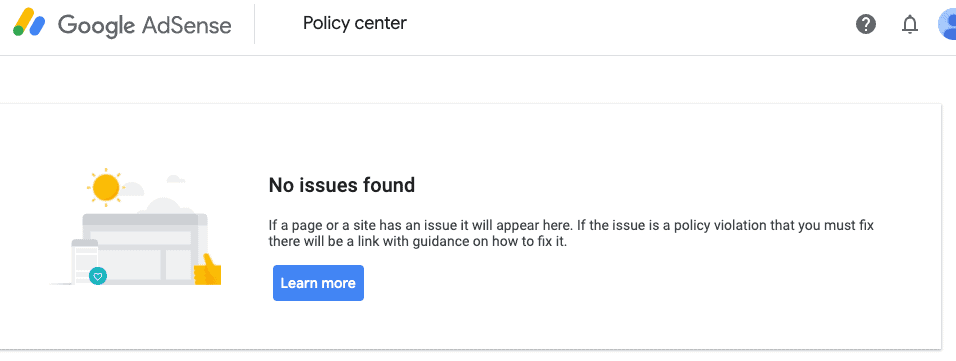 Policy Center NO issues